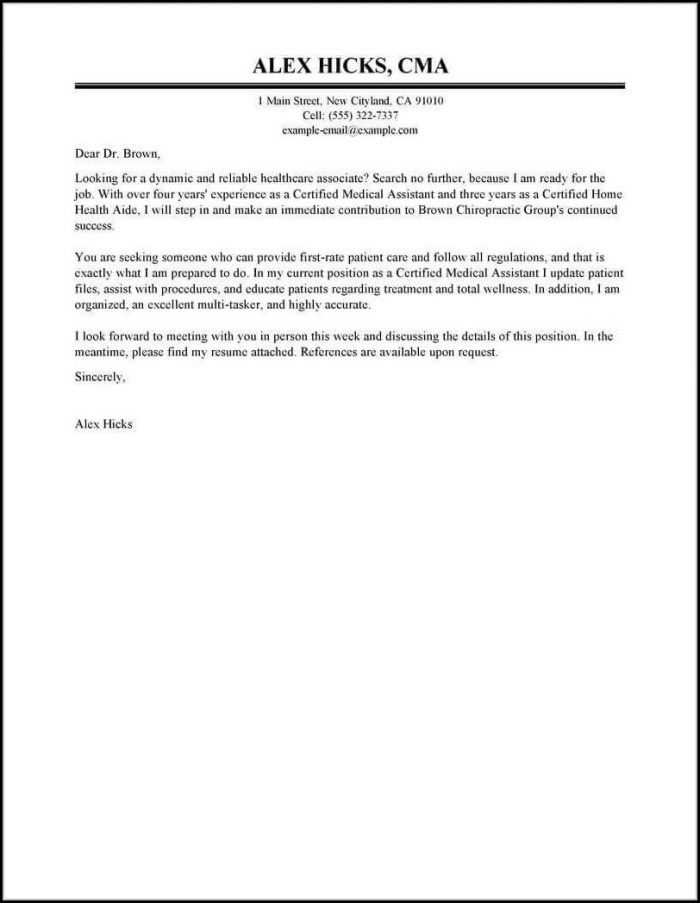 How To Compose A Cover Letter For A Job