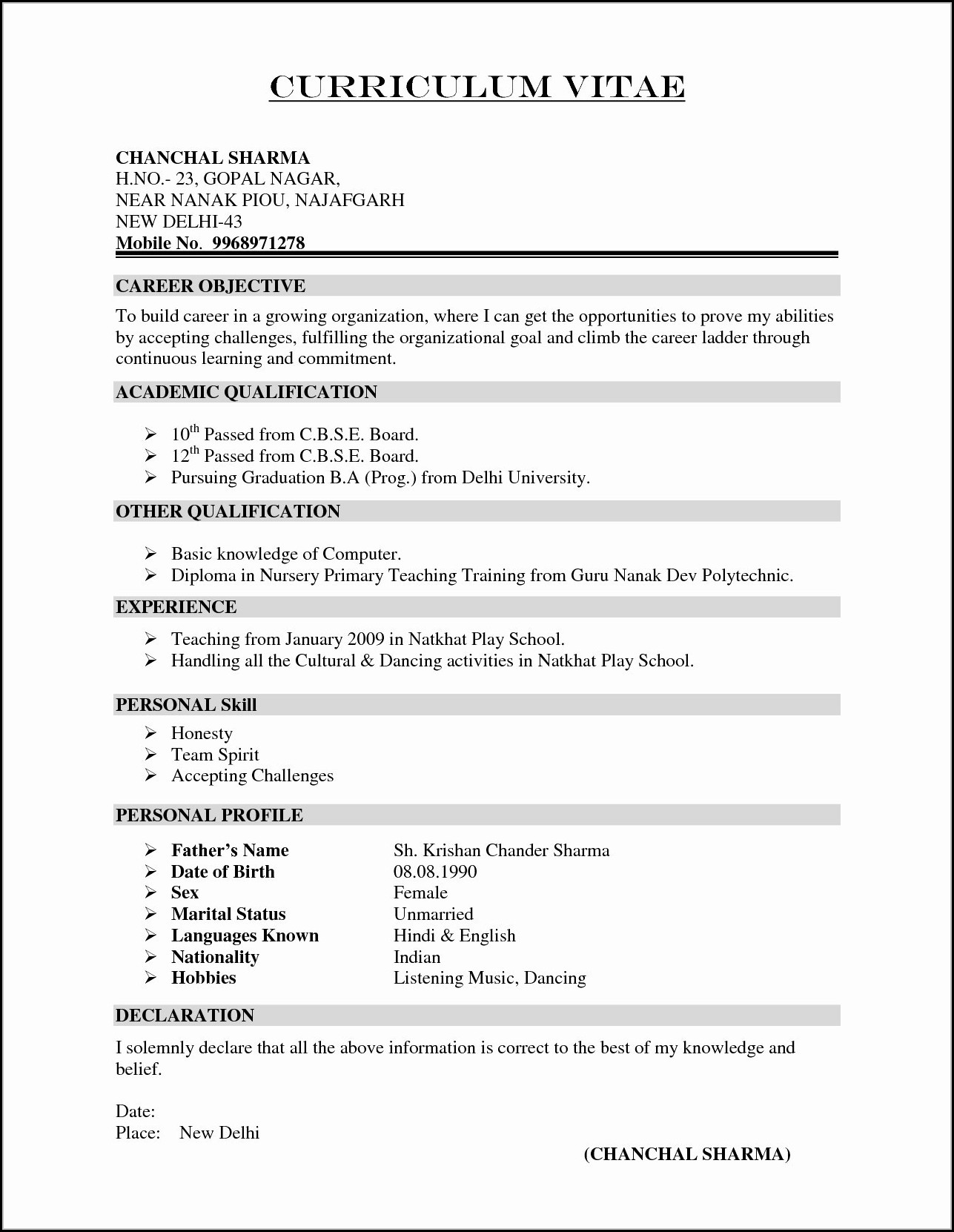 Preparing A Resume And Cover Letter