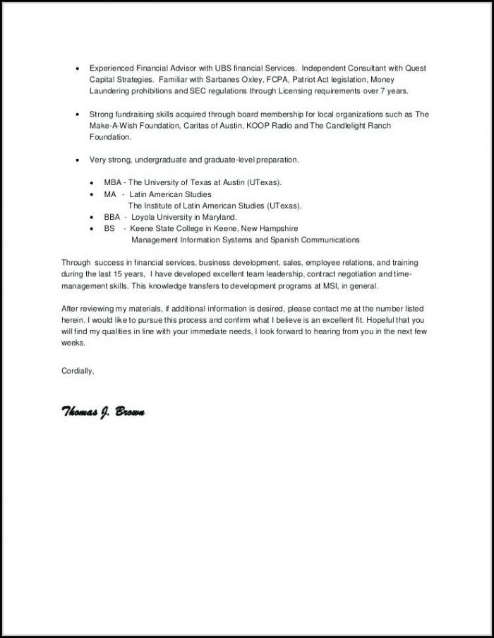 Principal Resumes And Cover Letters
