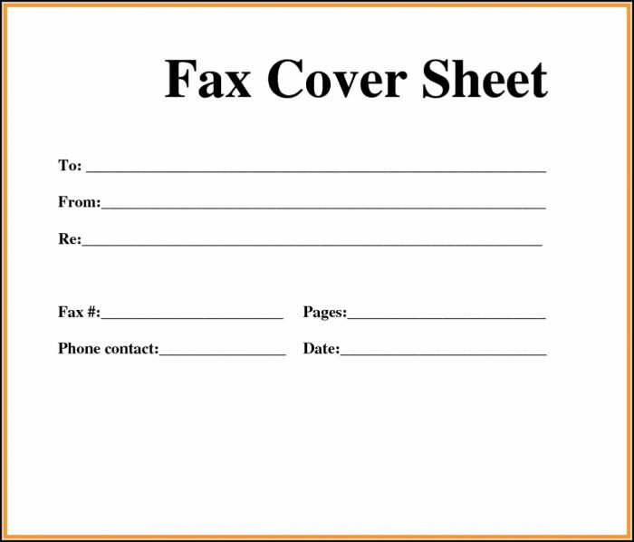 Printable Fax Cover Letters