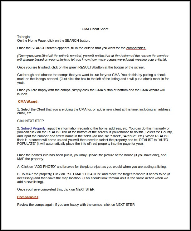 Real Estate Comparative Market Analysis Cover Letter