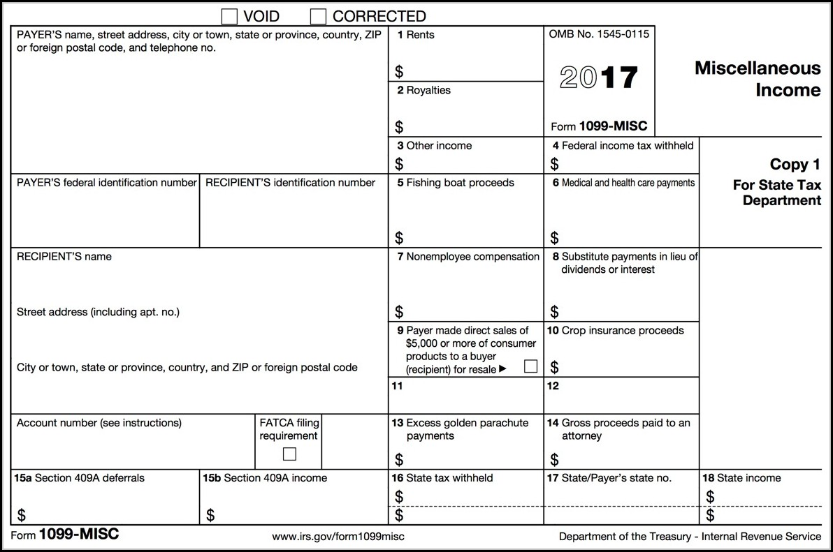 1099 Misc Tax Form 2017