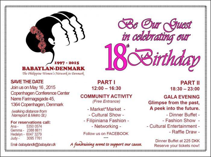 18 Birthday Invitation Templates