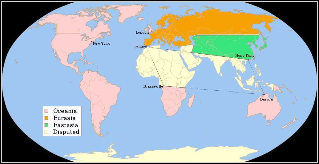 1984 Book World Map