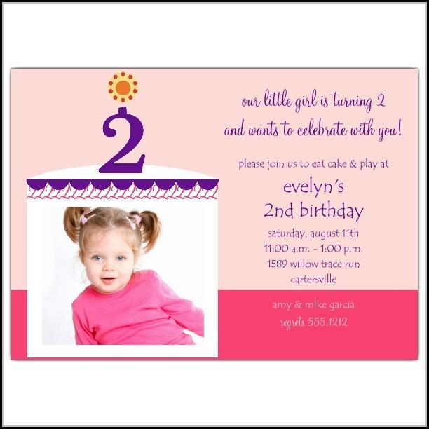2nd Birthday Party Invitation Templates Free
