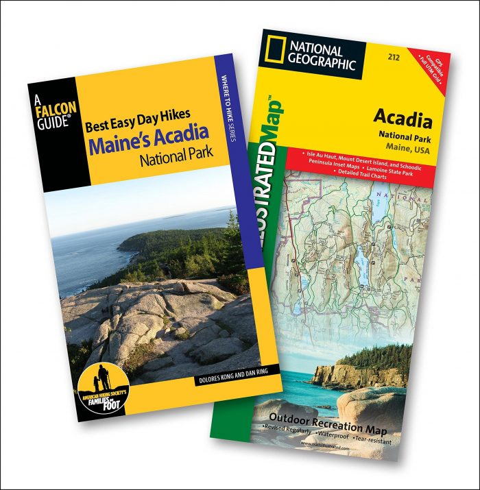 Acadia National Park Hiking Trail Map