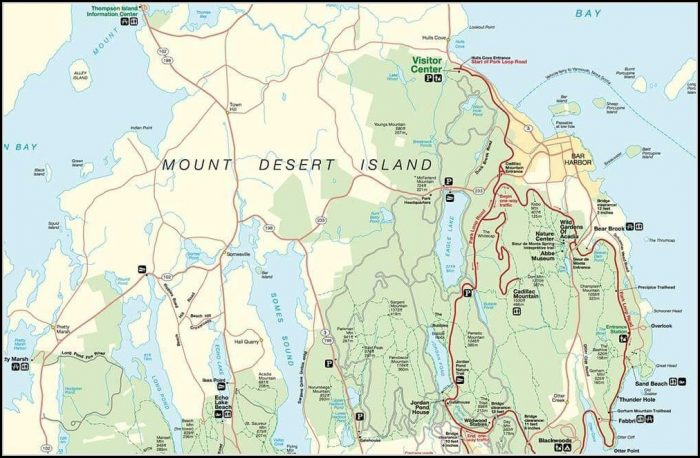 Acadia National Park Hiking Trails Map