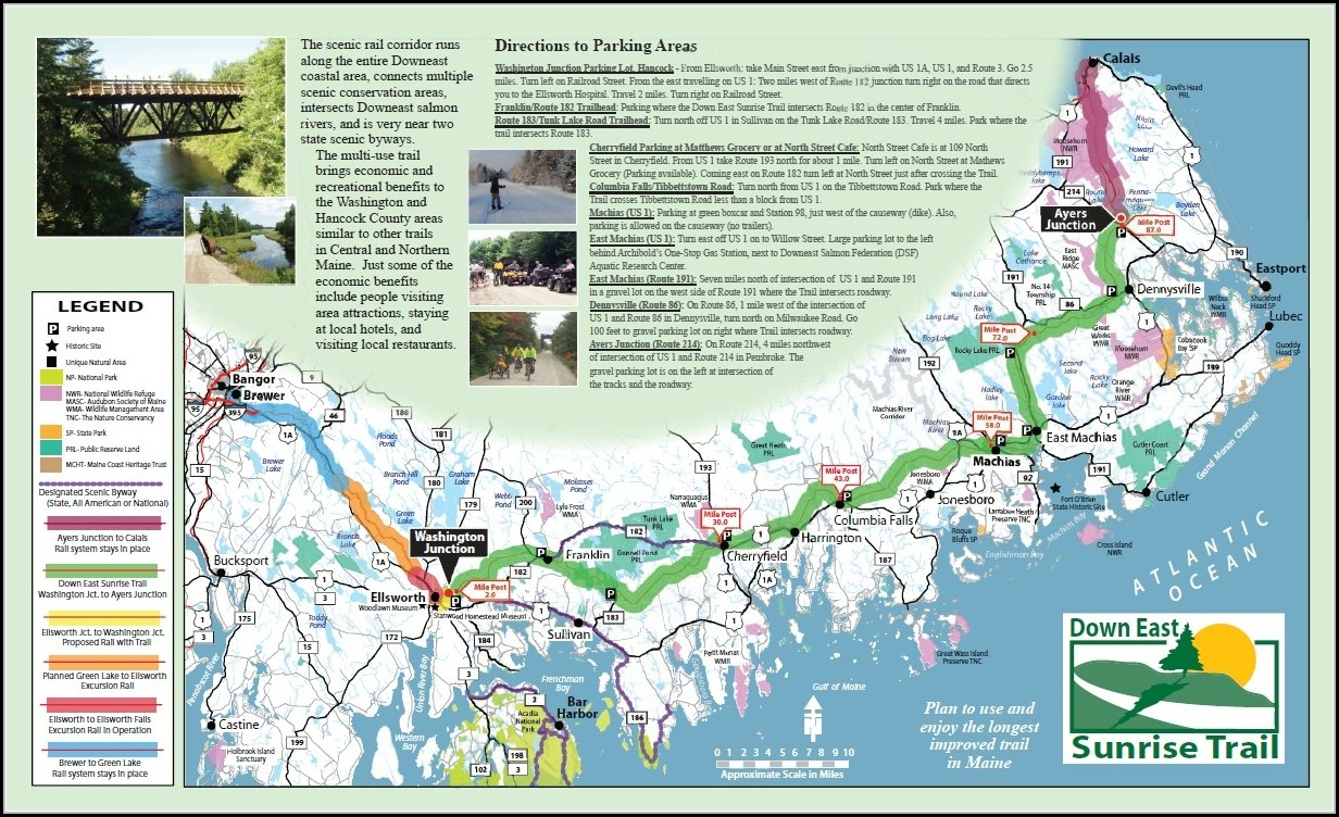 Acadia National Park Trail Map Pdf