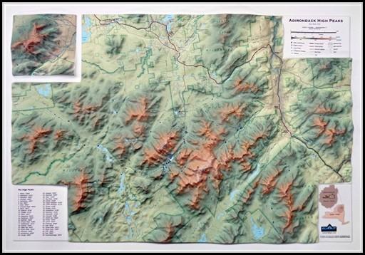 Adirondack 46 High Peaks Map