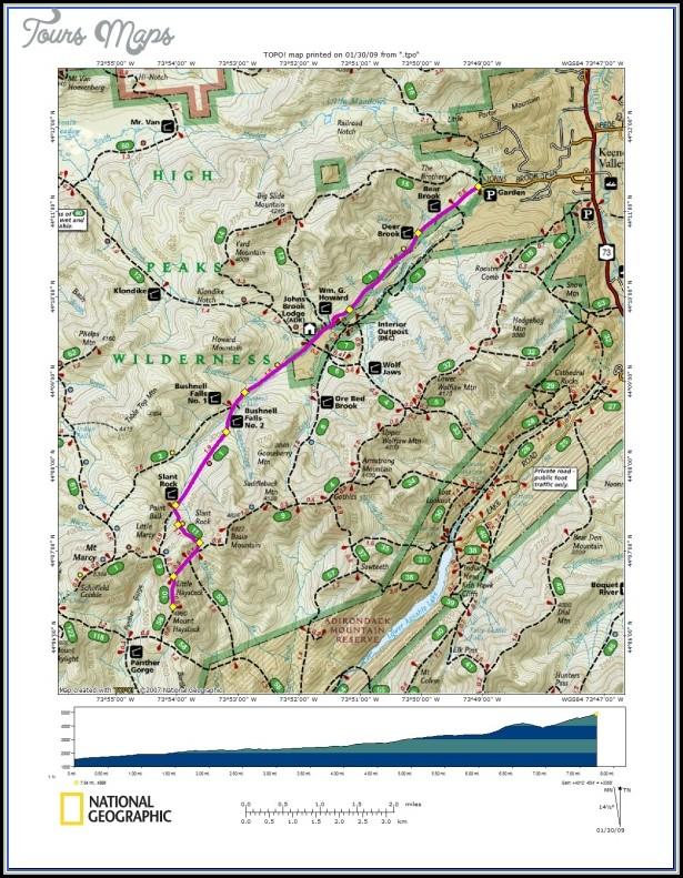 Adirondack Hiking Map
