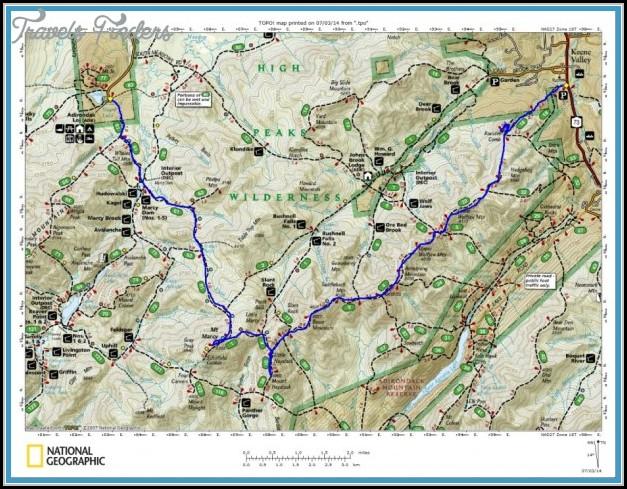 Adirondack Hiking Trails Map