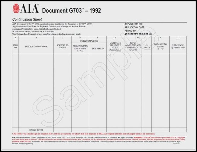 Aia Form G703