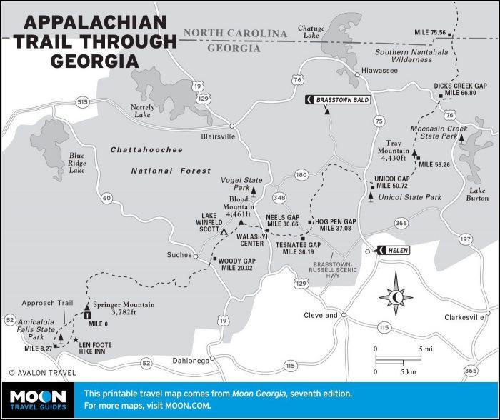 Appalachian Trail Map Georgia