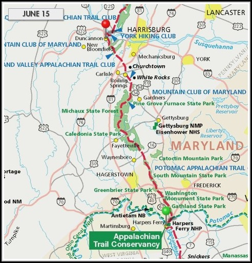 Appalachian Trail Map Maryland