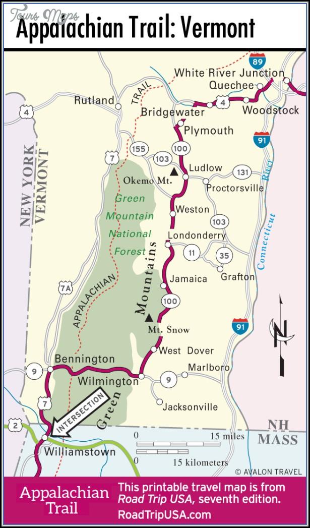 Appalachian Trail Map Vermont