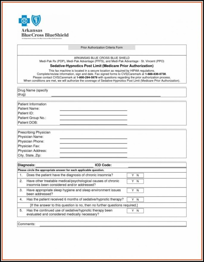 Bcbs Prior Authorization Form Ohio