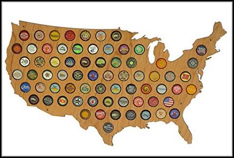 Beer Bottle Cap Map