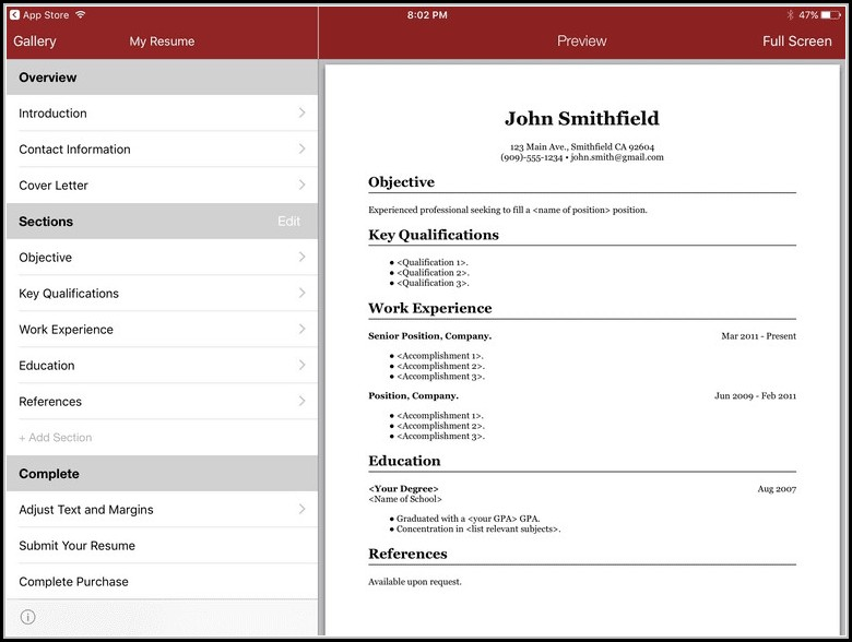 Best Resume Builder App Free Download