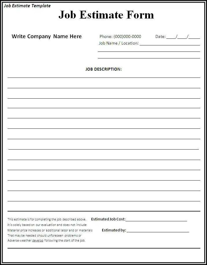 Bid Proposal Template Free Download