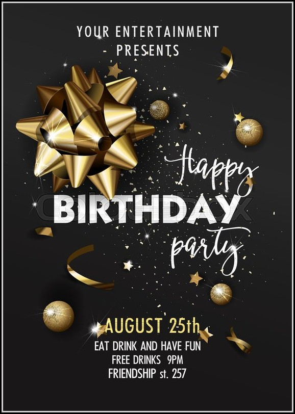 Birthday Invitation Poster Template