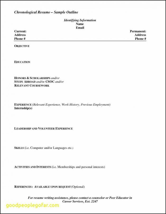Blank Resume Format For Freshers