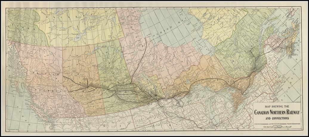 Canadian Northern Railway Map