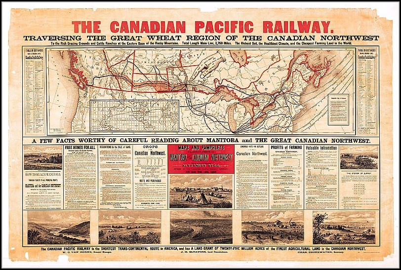 Canadian Pacific Railway Map 1885