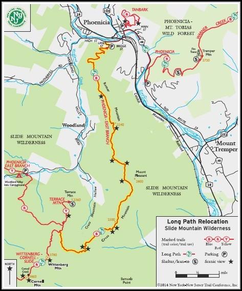 Catskills Hiking Map