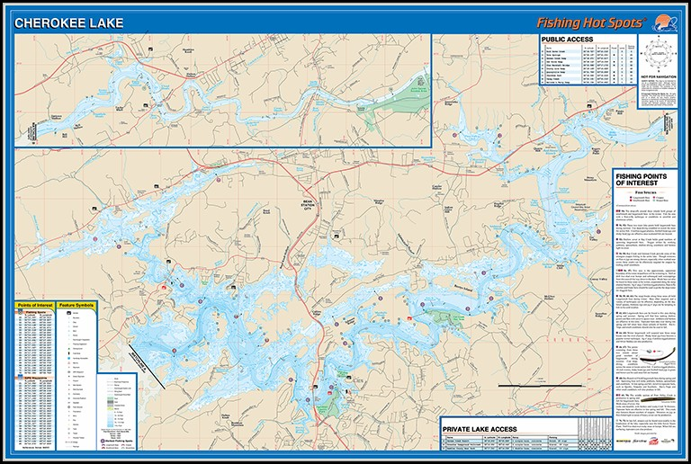 Cherokee Lake Map