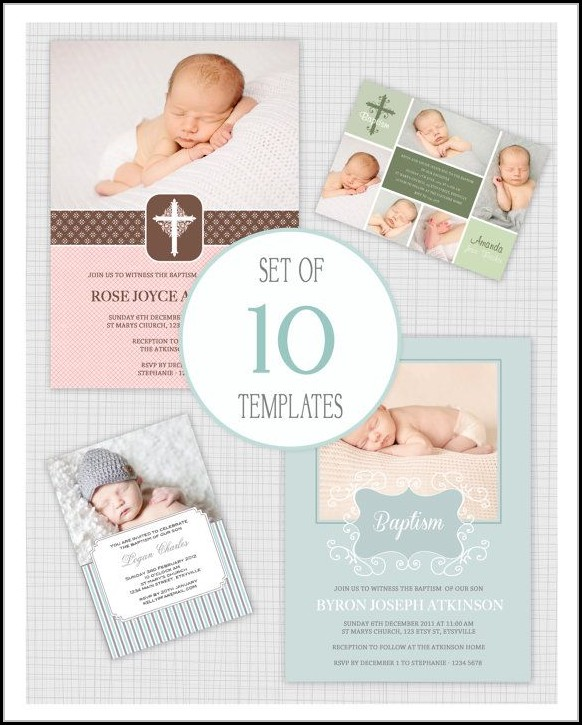 Christening Invitation Template Psd Free Download