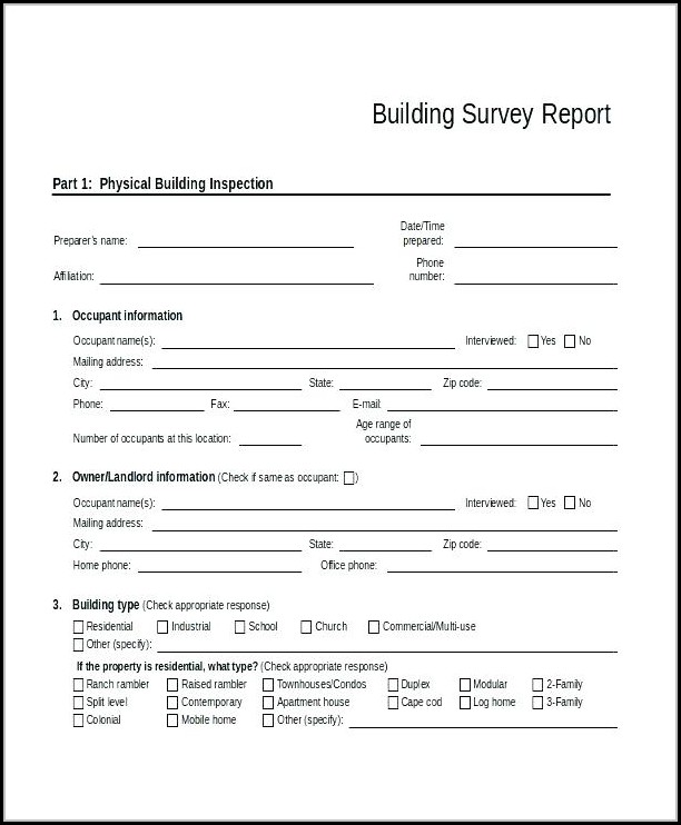Condo Inspection Report Template