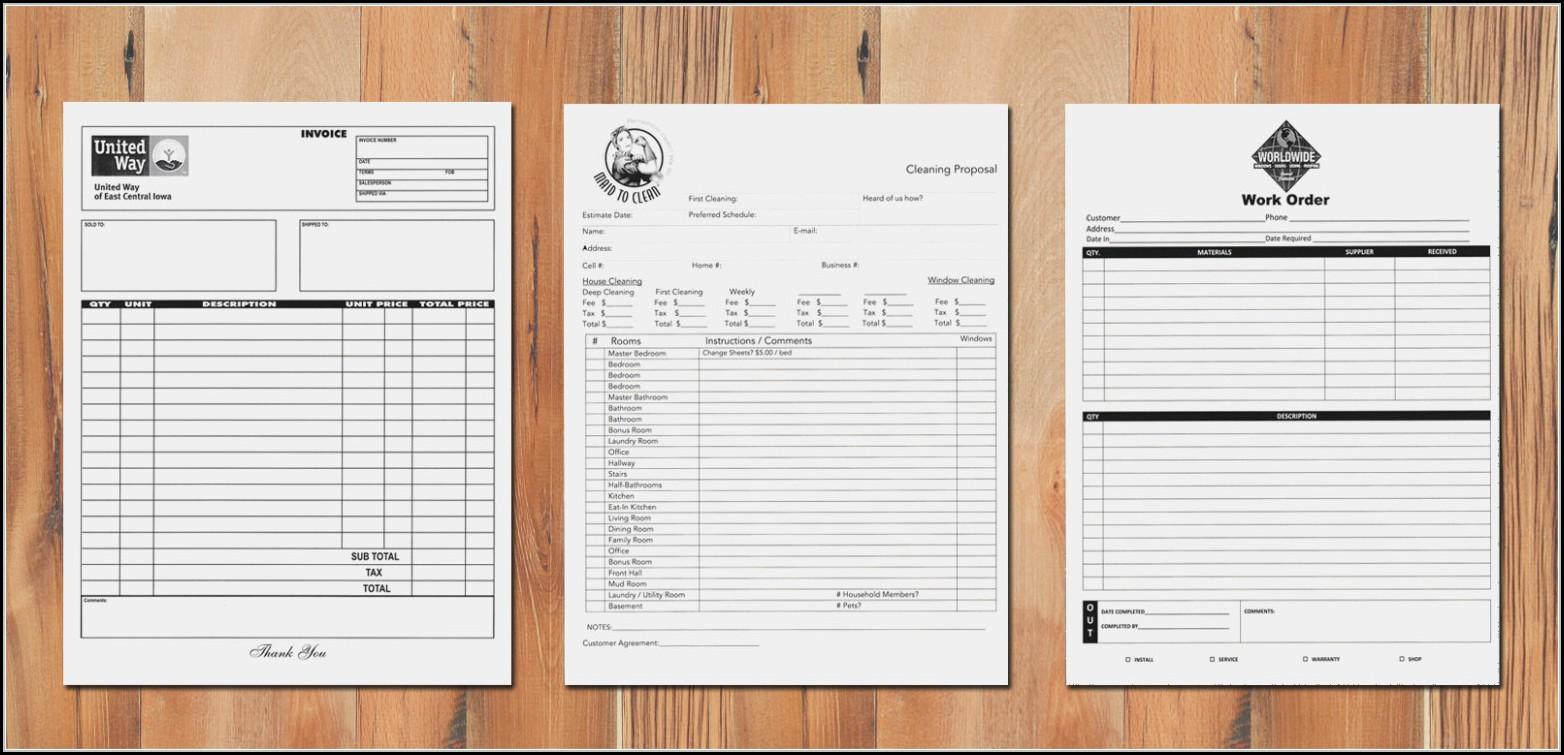 Custom Carbon Copy Forms