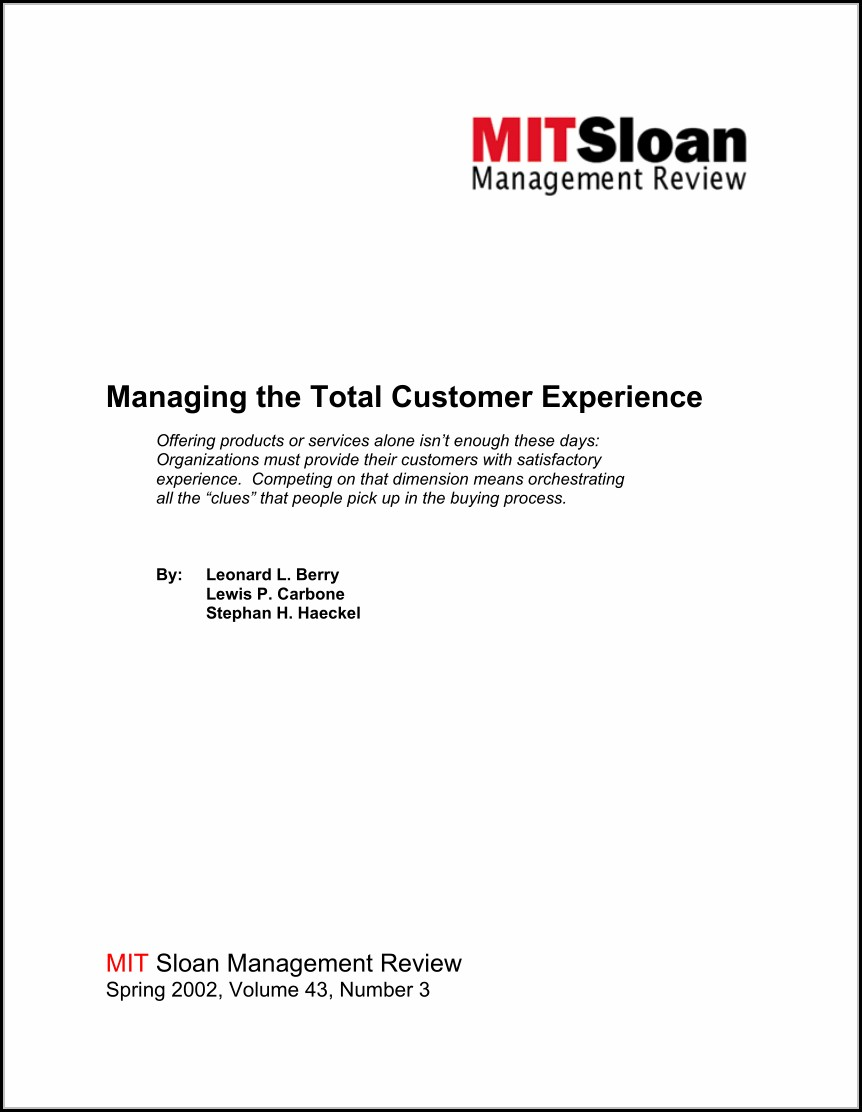 Customer Experience Mapping Pdf