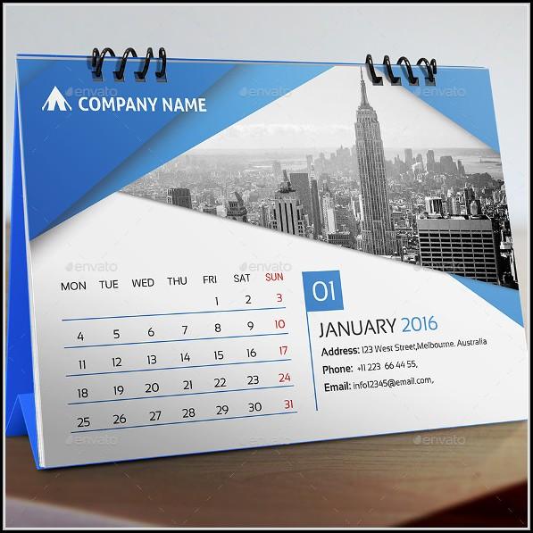 Desk Calendar Design Templates Free Download