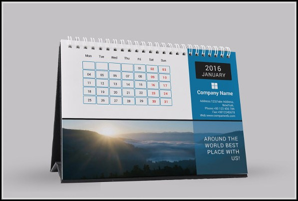 Desk Calendar Template Free Download