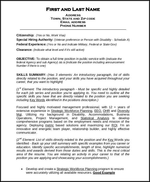 Federal Resume Builder Free
