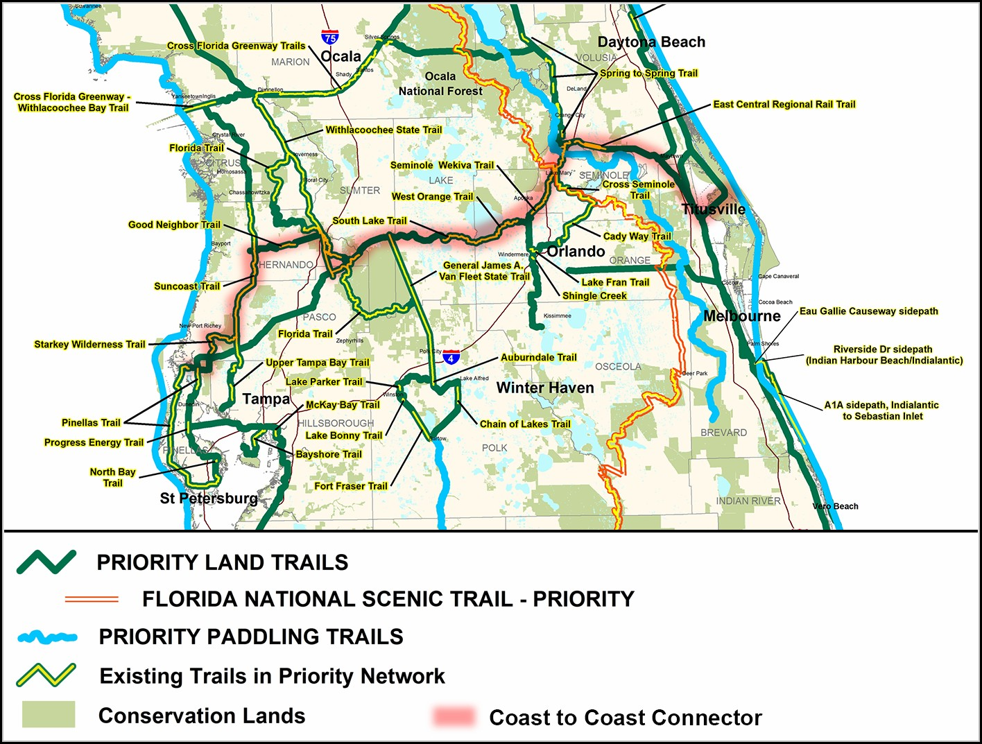 Florida Rails To Trails Map
