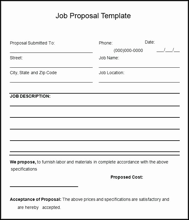 Free Bid Proposal Template Pdf