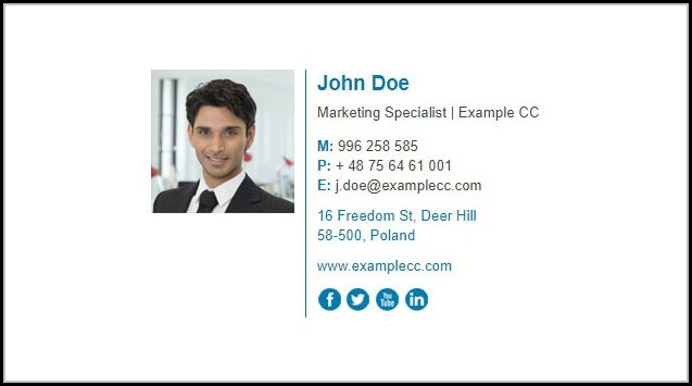 Free Email Signature Html Template