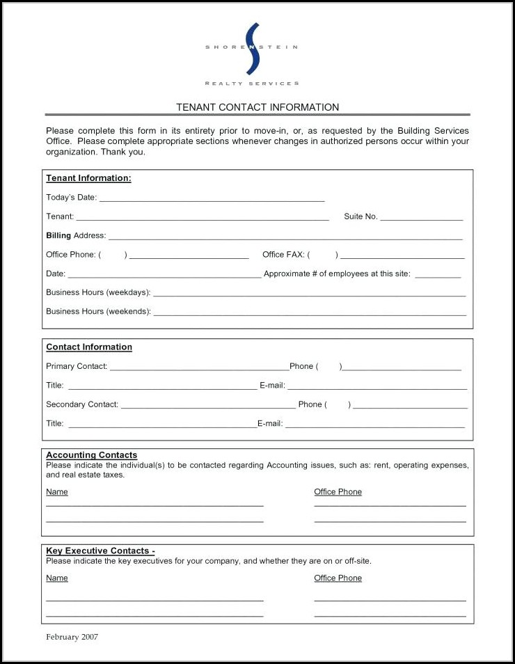 Free Entry Form Template Word
