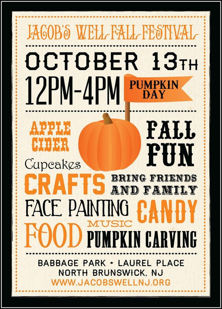 Free Fall Event Flyer Templates