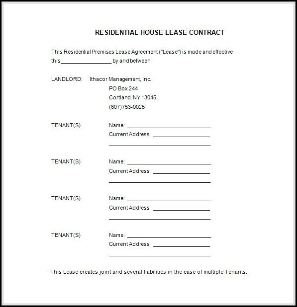 Free Florida Residential Lease Agreement Forms To Print