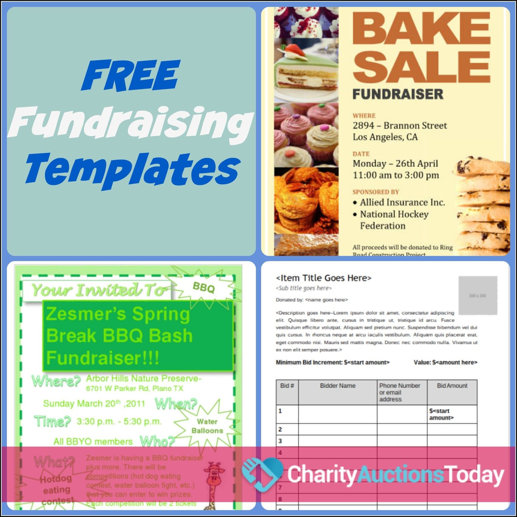 Free Fundraiser Flyer Templates