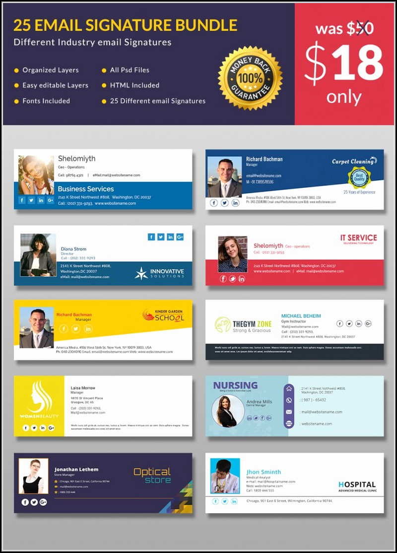 Free Html Email Signature Template Download