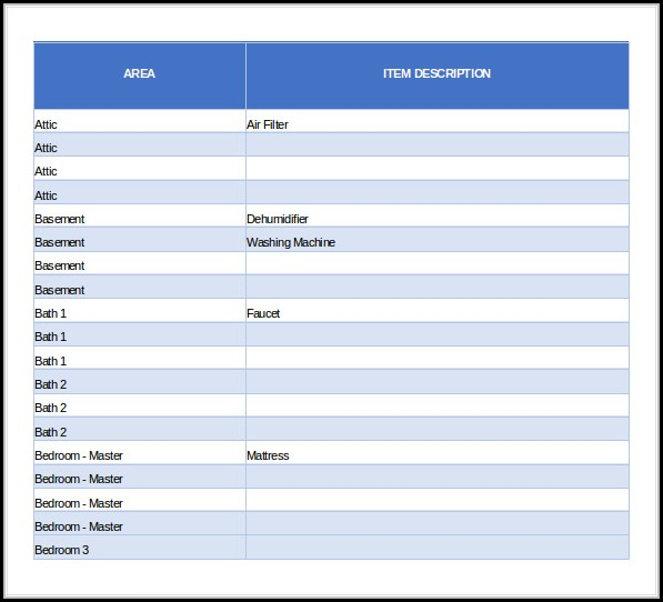 Free Inventory Database Template