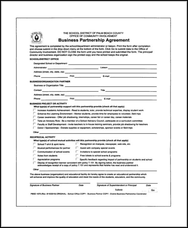 Free Partnership Agreement Form