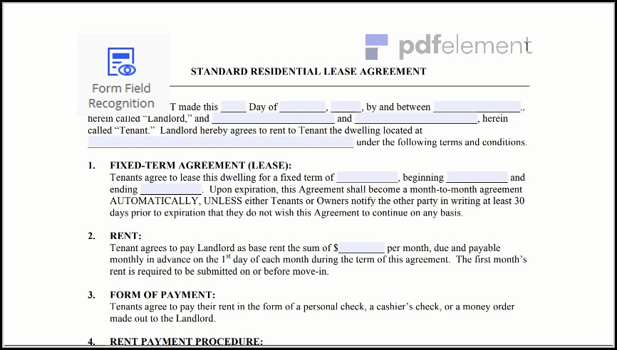 Free Residential Lease Agreement Template (19)
