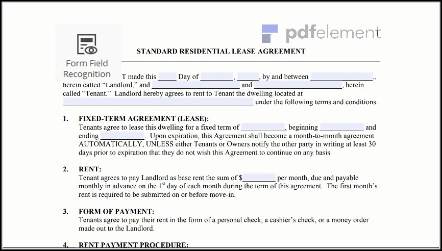 Free Residential Lease Agreement Template (4)