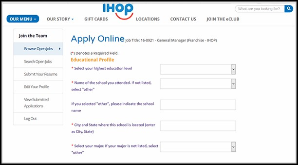 Ihop Job Application Online