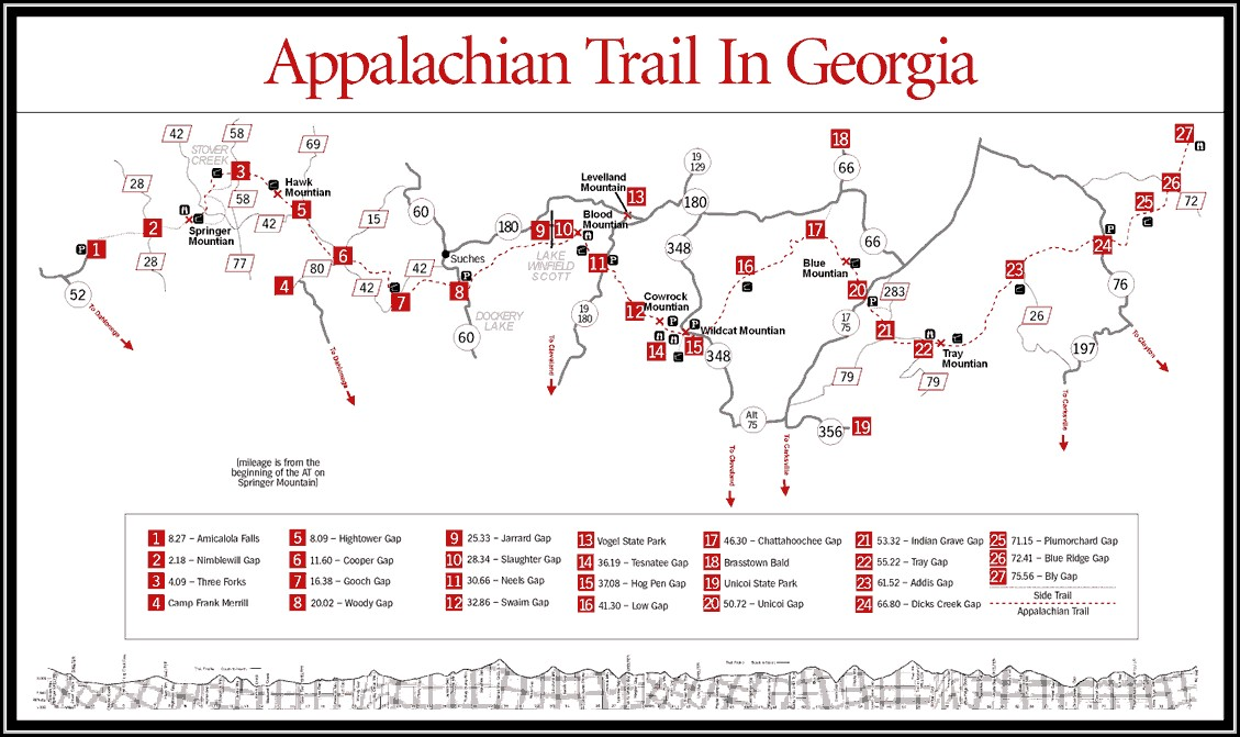Map Of Appalachian Trail In Georgia